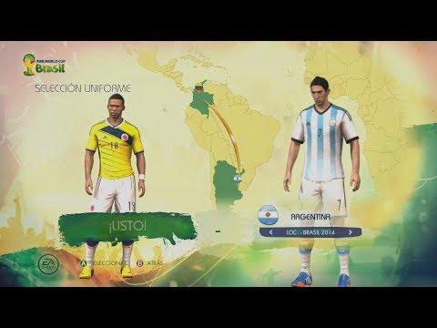 FIFA World Cup Brazil 2014 - Juego Completo Menús, Modos de Juego Equipos Uniformes y mas!