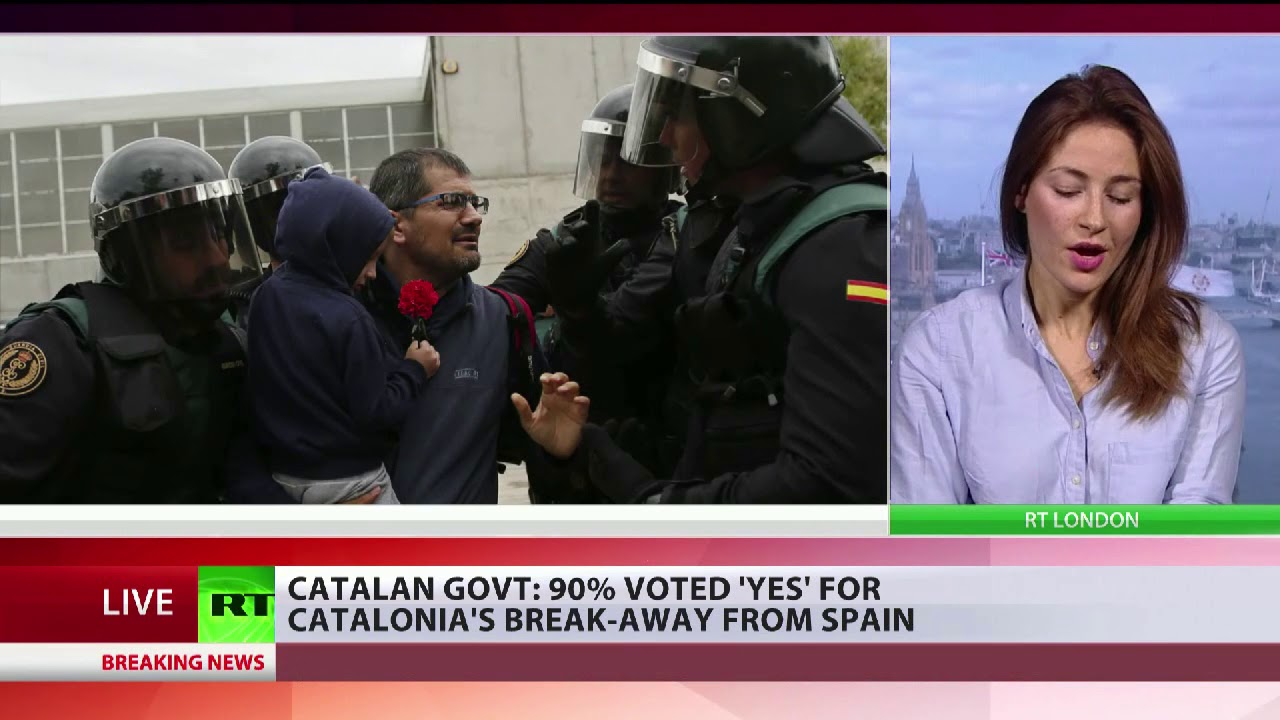 EU  belatedly condemns violence in Catalonia but calls vote illegal