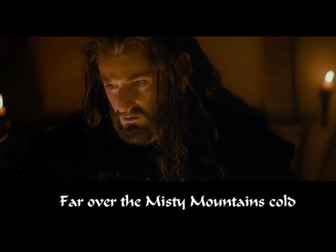 Lord Of The Rings Misty Mountains Cold Lyrics
