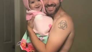 Adam Levine with baby Myla
