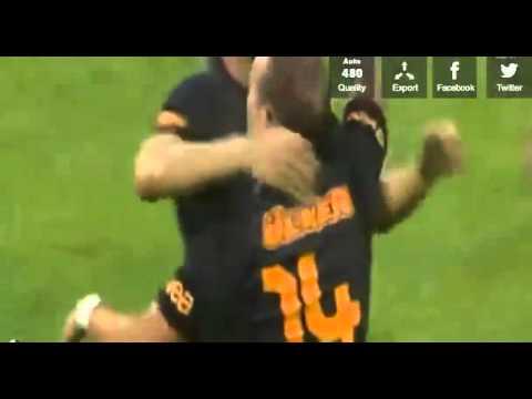 Notts County vs Galatasaray 1-2 Wesley Sneijder 90+1