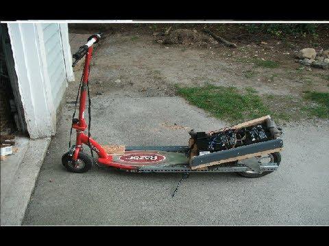 Razor Electric Scooter >> Razor E100 Fast Electric Motor Scooter Modification 17mph - YouTube