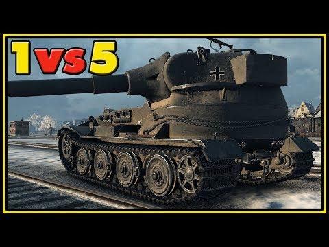 Pz.Kpfw. VII - 1 vs 5 - World of Tanks Gameplay