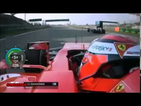 Funny team radio ''Get out of the way'' Kimi Räikkönen China 2015