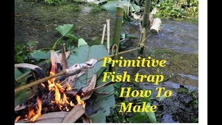 Primitive fish trap and cooking  How to, | Diy |