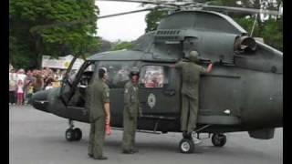 Decolagem do helicóptero Pantera do BAvEx