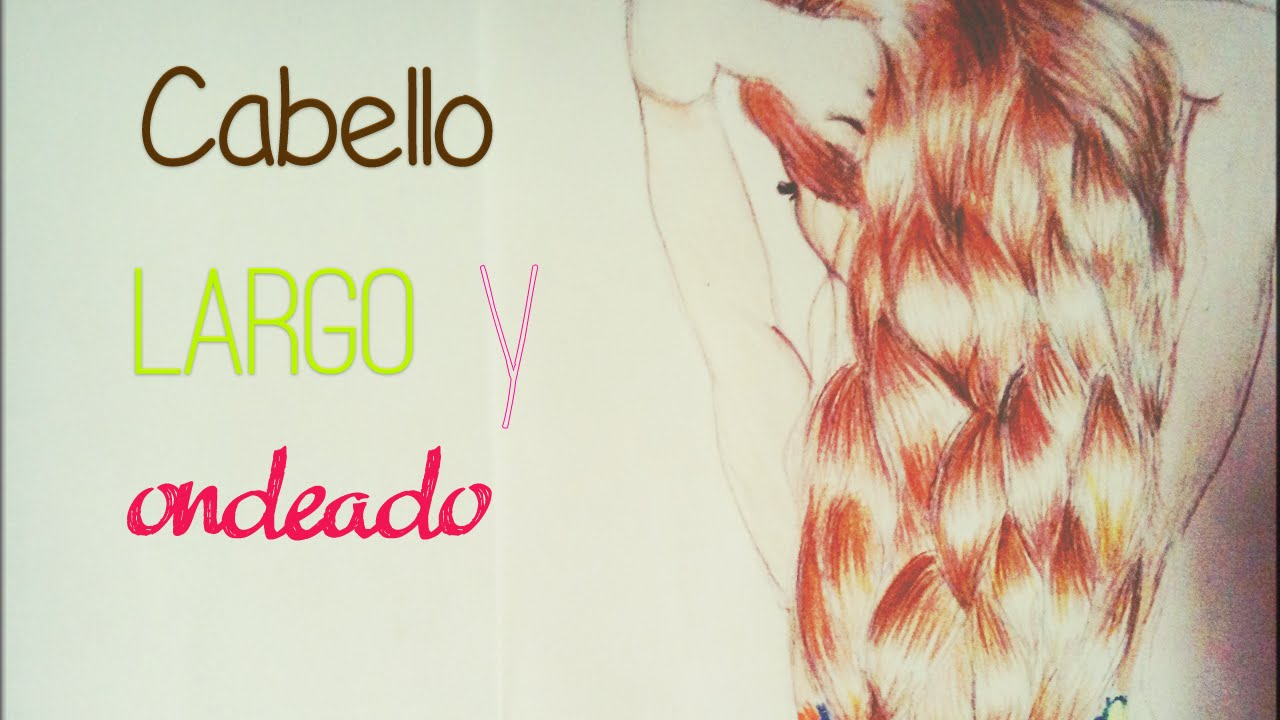 Como Dibujar Y Colorear Un Largo Cabello Ondulado How To