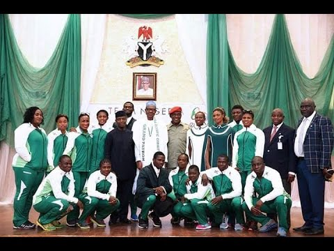 Buhari encourages the Nigerian Sport Team to go for the Gold in Rio 2016