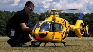 HUGE RC EC-135 1:4 SCALE VARIO ELECTRIC MODEL HELICOPTER FLIGHT DEMO / Birkholz Germany 2015