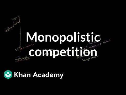 Oligopolies and Monopolisitc Competition
