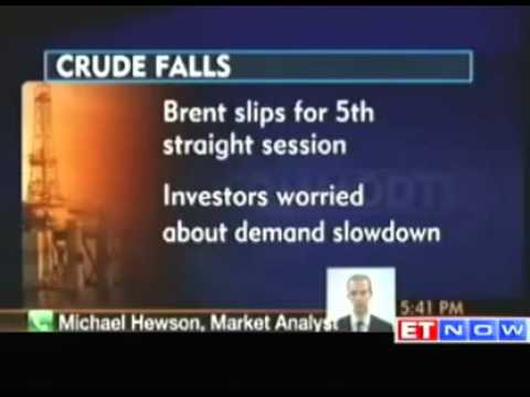 Brent crude slips for 5th straight session