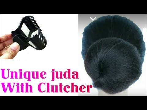 JUDA IN 1 MIN WITH CLUTCHER || BUN STYLE FOR GIRLS | Stylopedia