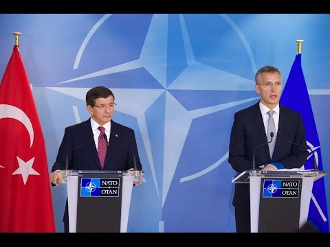 NATO Secretary General with Prime Minister of Turkey, 30 NOV 2015