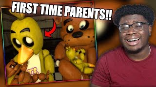 FREDDY AND CHICA HAVE BABIES! | Funny FNAF SFM Animations Compilation Reaction!
