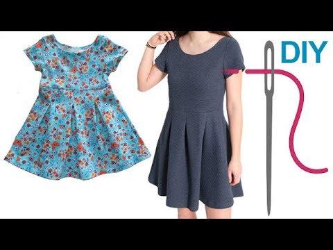 kleid jerseykleid sommerkleid einfaches kleid selber n hen pia f r n hanf nger youtube. Black Bedroom Furniture Sets. Home Design Ideas