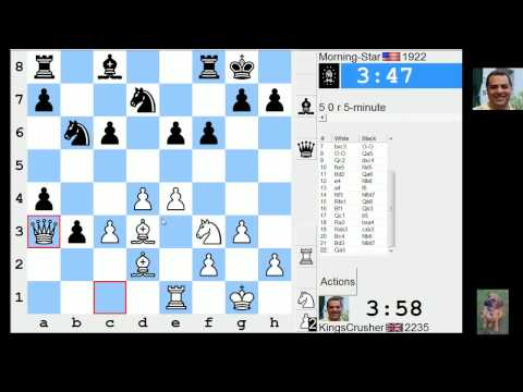 LIVE Blitz #2221 (Speed) Chess Game: White in Queens Gambit: QGD semi-Slav