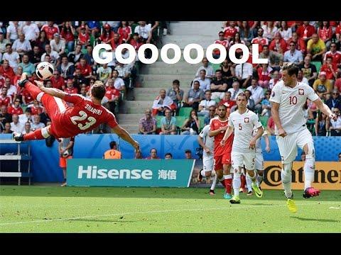 Gol Shaqiri w meczu Polska - Szwajcaria strzelony przez Xherdan Shaqiri