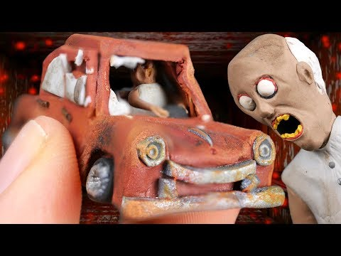 Making GRANNY'S CAR Miniature in POLYMER CLAY!