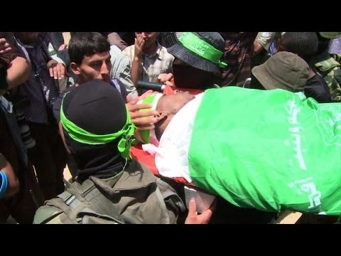Funeral in Gaza for Palestinian killed by an Israeli air strike