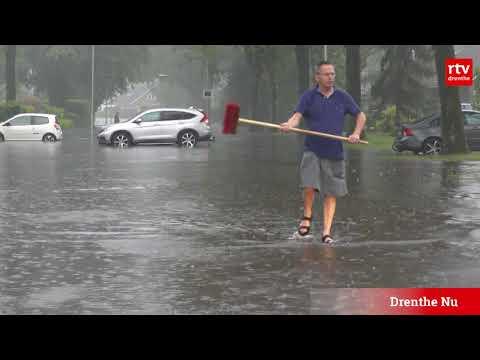 Wateroverlast in Drenthe: op één avond net zoveel regen als in normale meimaand