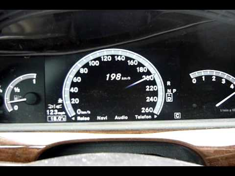 2010 Mercedes Benz S350 Top Speed