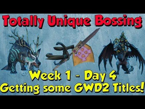 Week 1, Day 4 - I got some Titles :D! [Runescape 3] Totally Unique Bossing #4