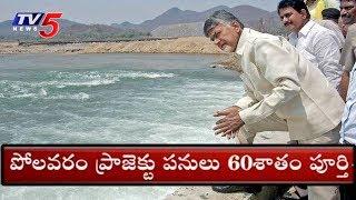 పోలవరం ప్రాజెక్టు పనులు 60 శాతం పూర్తి..! | CM Chandrababu On Polavaram Project