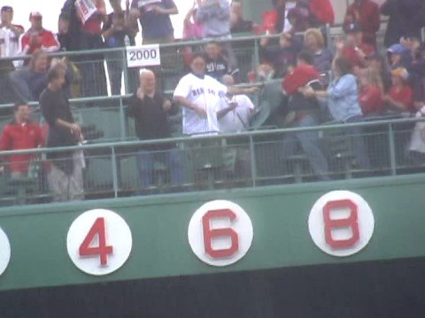 On the last day of the 2008 regular season, the Red Sox retired Johnny Pesky's #6 in recognition of his 57 years of service. The player who last had his numb...