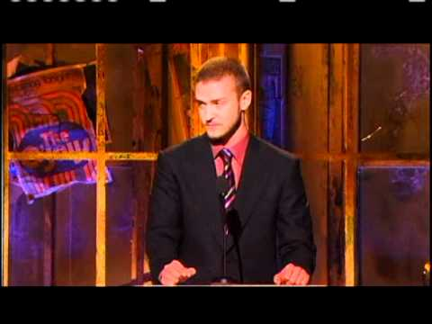 Justin Timberlake inducts the O'Jays Rock and Roll Hall of Fame Inductions 2005