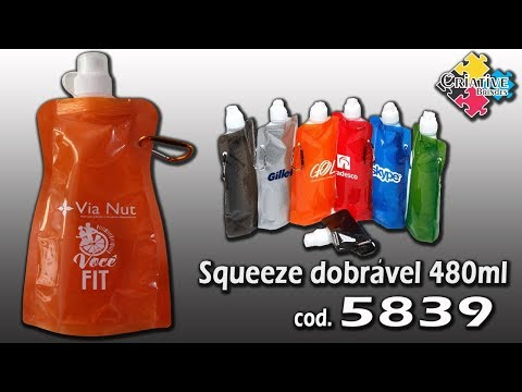 Squeeze Dobrável 480ml 5839 - Criative Brindes