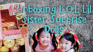 Unboxing L.O.L Lil Sister Series 3 with Sista Happy Times Review | Toys Review Video