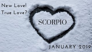 SCORPIO: New love!  True love? January 2019