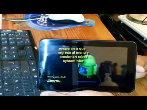Alcatel onetouch tab 7 android entrar a recovery y restaurar de fabrica hard reset