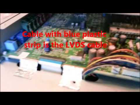 Fixing LCD TV Green Snow by change LVDS cable westinghouse 32 Inch