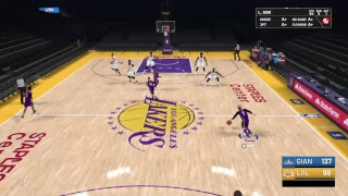2k19 lakers vs allstars score up to 50