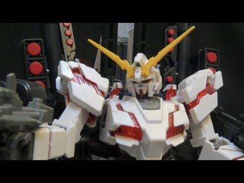HGUC Full Armor Unicorn Gundam review (2: Plates) Gundam UC Banagher's Gunpla plastic model 