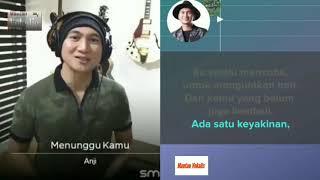 Anji - Menunggu Kamu (video karaoke duet bareng artis) smule cover