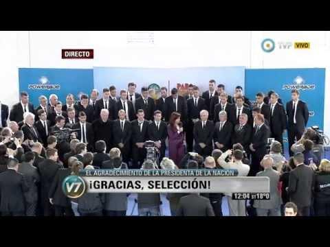 Visión 7 El agradecimiento de la presidenta de la Nación