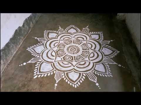 Alpana Design For Manabasa Gurubara, Margasira Masa Gurubara Jhoti Chitta