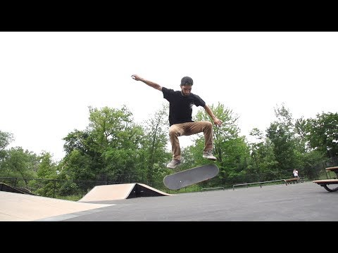 Fakie bigspin double kickflip skateology