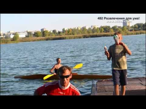 4 турнир по гребле на байдарках и каноэ Харківська хвиля , водно гребная база, ветераны, часть 2