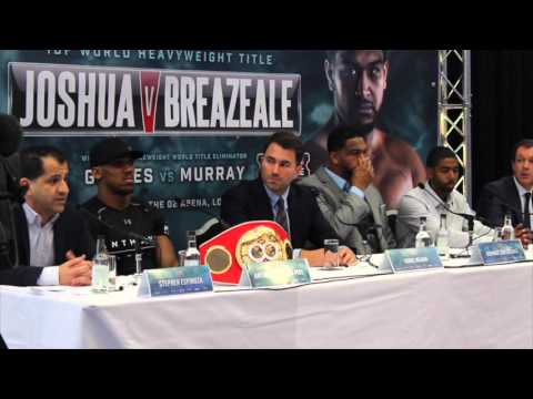 ANTHONY JOSHUA v DOMINIC BREAZEALE (FULL) PRESS CONFERENCE AHEAD OF IBF WORLD TITLE CLASH