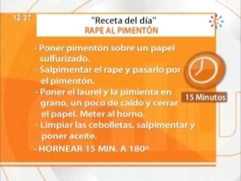 Rape al Pimentón Receta Mira la Vida