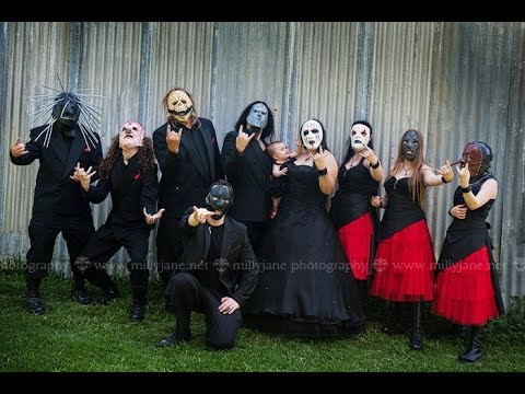 ryan amp ren a heavy metal wedding 111111 slipknot
