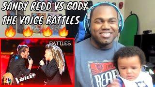 "Cody Ray Raymond Battles SandyRedd to Solomon Burke's ""Cry to Me"" - The Voice 2018 Battles REACTION"