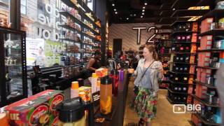 T2 Tea Shop in New York NY selling different Types and Brands of Tea