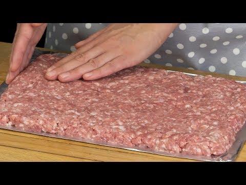 Всего 3 ингредиента! Очень вкусный мясной рулет быстрого приготовления!   Appetitno.TV
