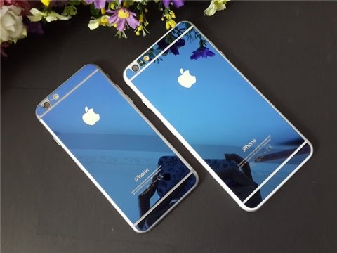 Iphone 6 metal bumper case with Tempered glass (Blue version)