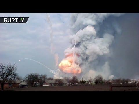 Балаклея в огне: взрывы на крупнейшем складе боеприпасов Украины
