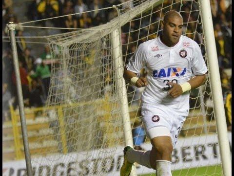 Goal Adriano Imperador - The Strongest VS Atlético Paranaense - Copa Libertadores - HD 8/4/2014